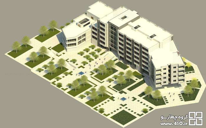 مدلسازی مجتمع مسکونی آپارتمانی