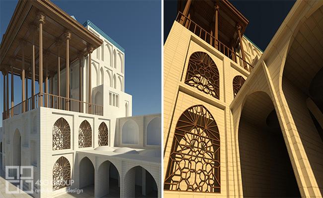 مدلسازی اسلامی با REVIT، عمارت عالی قاپو
